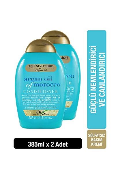 OGX Extra Güçlü Nemlendirici ve Canlandırıcı Argan Oil of Morocco Sülfatsız Bakım Kremi 385mlx2