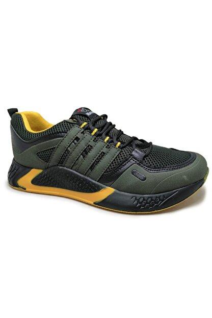 Beyken Ayakkabı Beyken Terrano Rahat Ortopedik Taban Erkek Günlük Haki Spor Ayakkabı