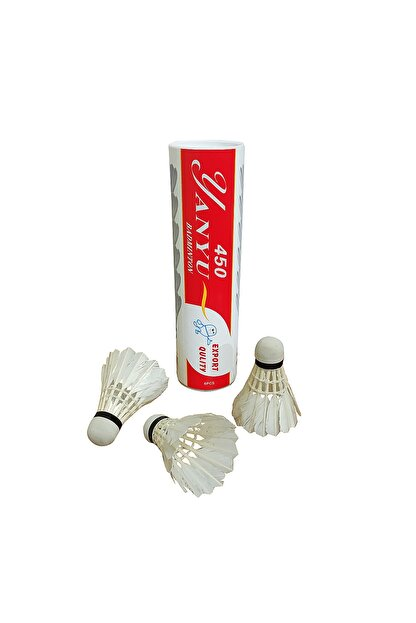 Avessa Yanyu Bad-450 Profesyonel Kaz Tüyü Badminton Topu 6 Adet Kutulu