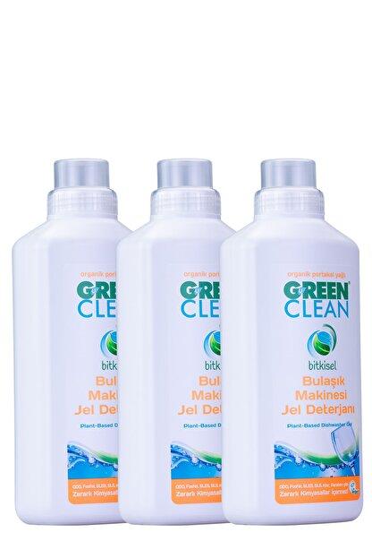 Green Clean Bulaşık Makinesi Jel Deterjan 1 Lt. 3' Lü Set