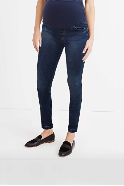 Gaiamom Mavi Beli Lastikli Hamile Skinny Jeans