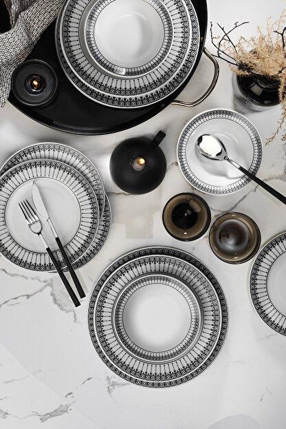 Kütahya Porselen Kütahya Yasemin 24 Parça Yemek Seti Nano Dek Dg370
