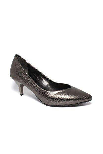 İncimoda Kadın Platin Ince Topuklu Ayakkabı