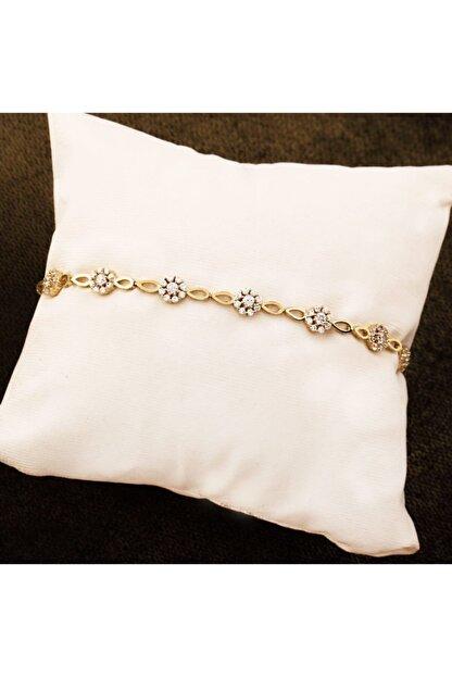 Melis Gold Altın Çiçekli Bileklik Blk20218