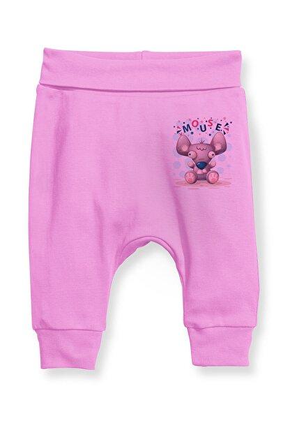 Angemiel Baby Şirin Fare Kız Bebek Şalvar Pantalon Pembe