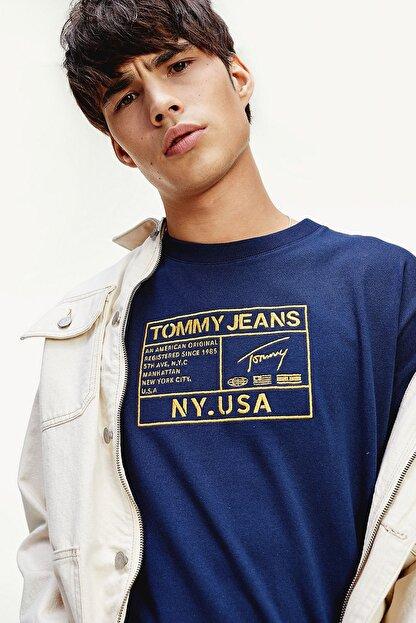 Tommy Hilfiger Erkek Gold Embroidery Logo T-Shirt DM0DM07848