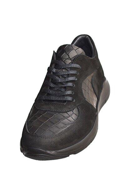 MPP Hakiki Deri Ortopedik Erkek Sneaker Ayakkabı Mboss011 Nbk Krk Siyah