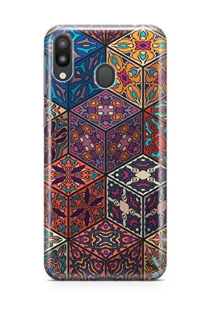 Melefoni Samsung Galaxy M20 Kılıf Patchwork Serisi Mckenzie