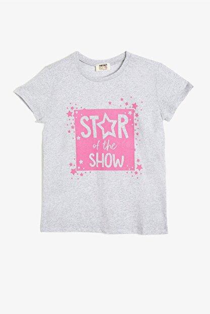 Koton Kar Melanj Kız Çocuk T-Shirt
