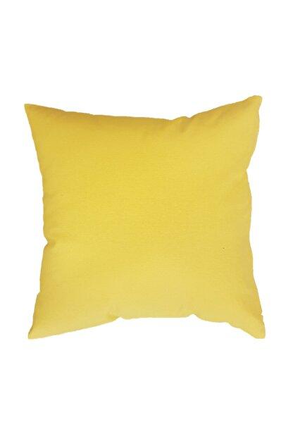 ÖDEL HOME Duck Kırlent Kılıfı,sarı 43x43 Cm (içi Dolu)(ana Kumaş-% 65 Pamuk,% 35 Polyester)(kırlent Içi-300 Gr