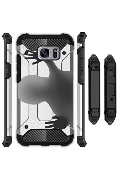 cupcase Samsung Galaxy S6 Edge Kılıf Desenli Sert Korumalı Zırh Tank Kapak - Hayalet