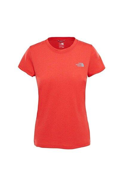 The North Face W Reaxion AMP Crew Kadın T-Shirt Kırmızı