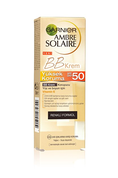 Garnier Güneş Koruyuculu BB Krem - Ambre Solaire BB Cream SPF50 50 ml 3600541312654