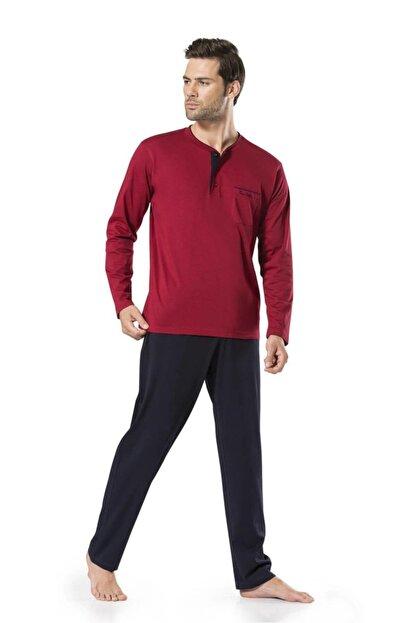 Pierre Cardin Erkek Bordo Damat Çeyizlik Pijama Takımı
