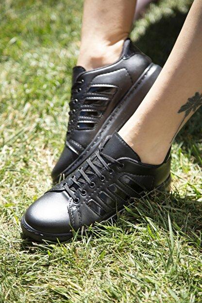 Ayakkabı Modası Siyah Kadın Spor Ayakkabı M4000-19-101002R