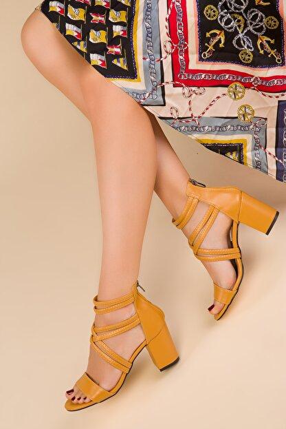 Soho Exclusive Hardal Sarı Kadın Klasik Topuklu Ayakkabı 14670