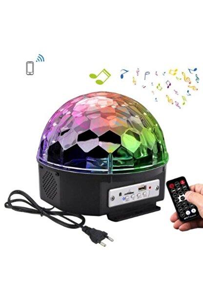 RealFoni Disko Topu Led Kristal Projeksiyon Lamba Hoparlör Müzik Çalar Usb Sd Girişli