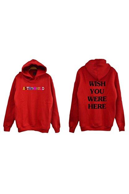 fame-stoned Unisex Kırmızı Sweatshirt