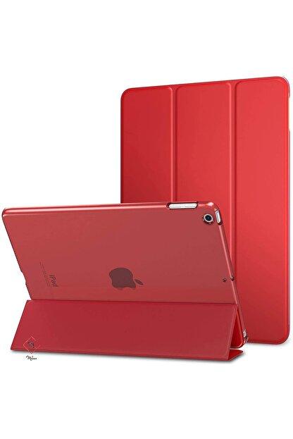 MOBAX Apple Ipad Air 2 Kılıf Pu Deri Smart Case A1566 A1567 Kırmızı