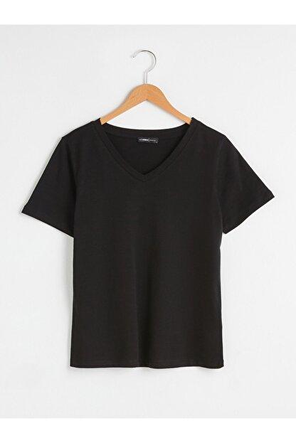 LC Waikiki Kadın Siyah T-Shirt
