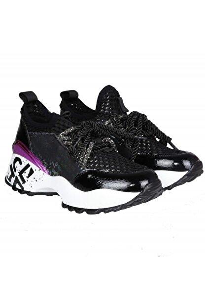 FOTİN Guja Kadın Siyah Bağcıklı Sneaker Ayakkabı