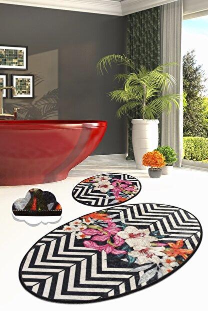 Chilai Home 60x100 cm - 50x60 cm Marken Djt 2'li Set Banyo Halısı