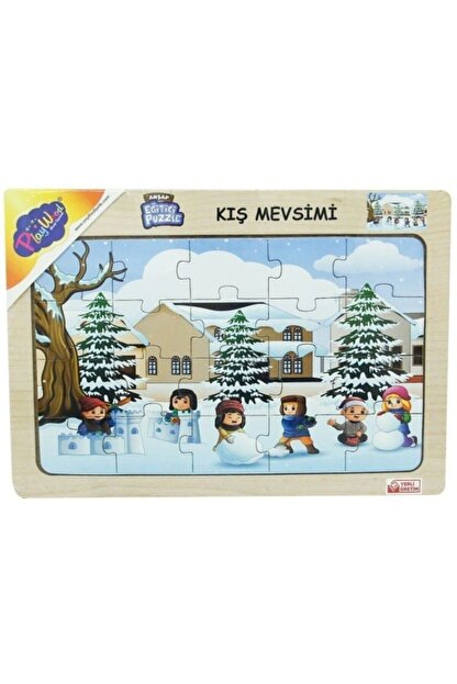 ONYIL Eğitici Öğretici Kış Mevsimi Ahşap Puzzle