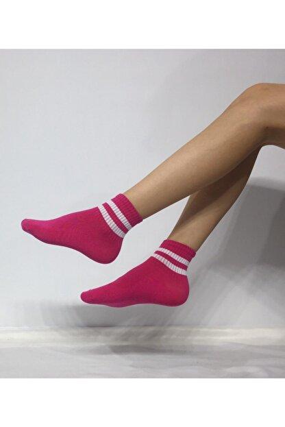 Adel Unisex Penye Çizgi Desenli Kolej Çorabı