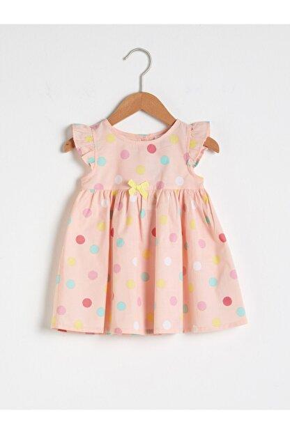 LC Waikiki Kız Bebek Pembe Baskılı Elbise