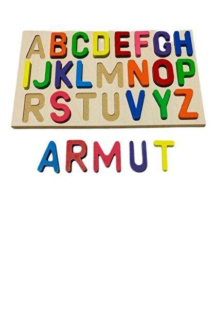SİNKA Ahşap Bultak Harfler Alfabe Eğitici Harfler Puzzle Çocuk Oyuncağı