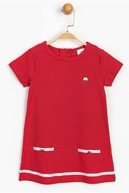 Panolino Kız Çocuk Kırmızı Kısa Kol Yazlık Elbise