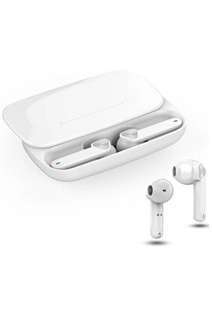 Escom Xiaomi Redmi Note 9 Pro Uyumlu Earbuds Beyaz Kızaklı Bluetooth Kulaklık