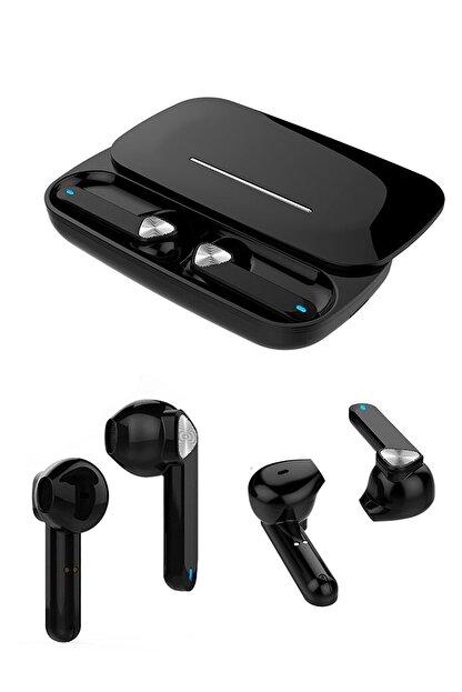 Escom Xiaomi Mi Note 10, 10 Pro Uyumlu Earbuds Siyah Kızaklı Bluetooth Kulaklık