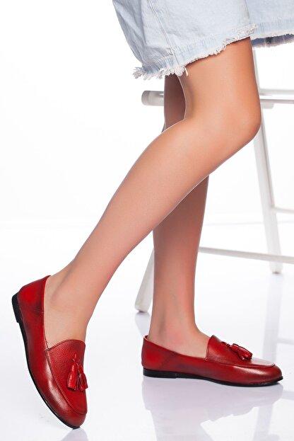 derithy Kadın Kırmızı Babet