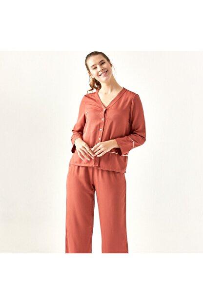 Bella Maison %100 Polyester Morbido Kiremit Pijama Üstü