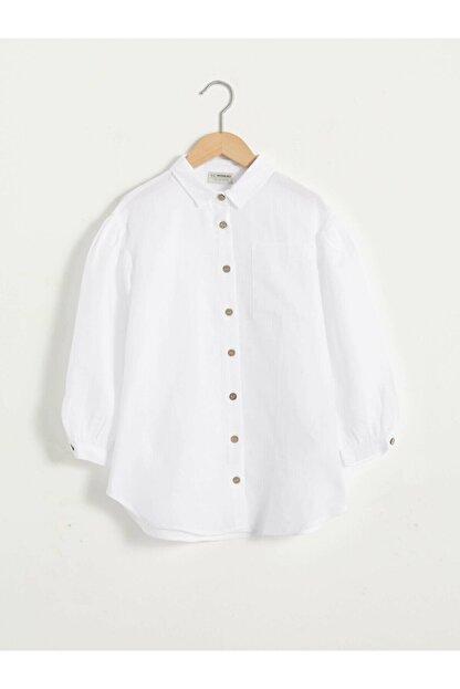LC Waikiki Kız Çocuk Beyaz Gömlek