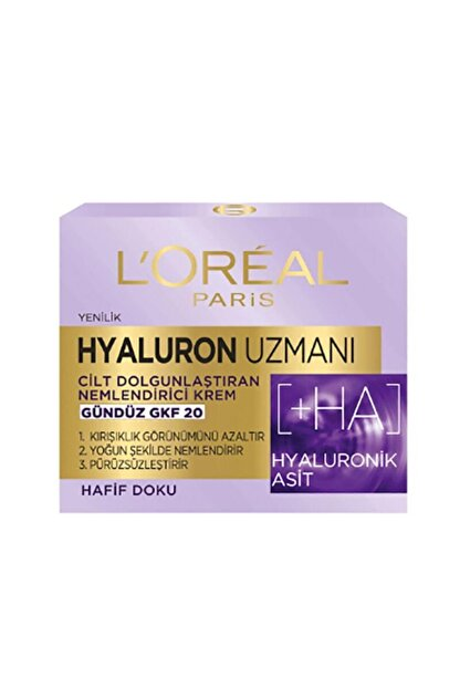 L'Oreal Paris Hyaluron Uzmanı Cilt Dolgunlaştıran Nemlendirici Gündüz Kremi Gkf20 - Hyaluronik Asit 3600523775682