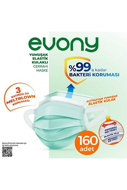 Evony Elastik Kulaklı Cerrahi Maske 160 Adet