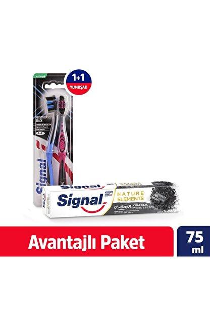 Signal Sıgnal Performans Black 1+1 Diş Fırçası + Sıgnal Nature E Charcoal Tp 75 ml Diş Macunu