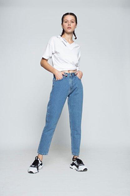 MojerHermosa Kadın Mavi Kot Pantolon