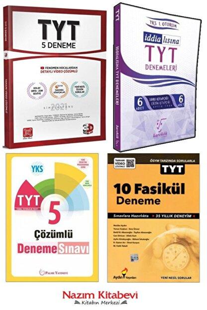 Palme Yayınları 2021 Deneme Setim 4 Kitap - Palme / 3d / Aydın / Karekök Yayınları Denemeleri