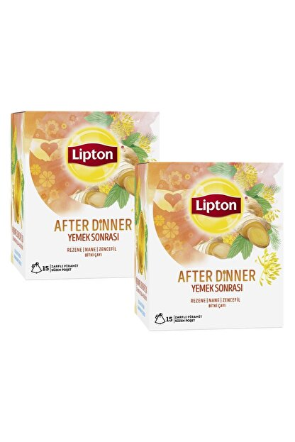 Lipton After Dinner Bardak Poşet Bitki Çayı 15'li X 2 Adet