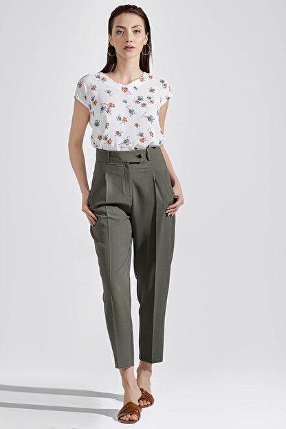 Chima Kemeri Çıkıntılı Pantolon