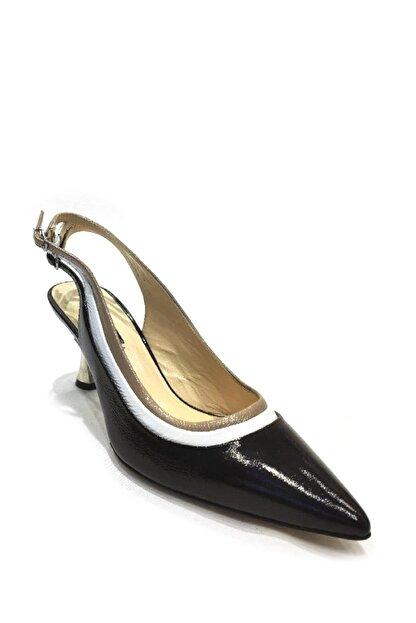 Flower Hakiki Deri Klasik Topuklu Ayakkabı Flw19y-a9303