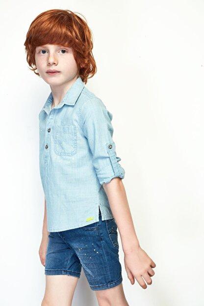 Nebbati Erkek Çocuk Jean Gömlek 19ss0nb3603