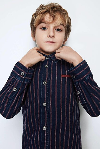 Nebbati Erkek Çocuk Jean Gömlek