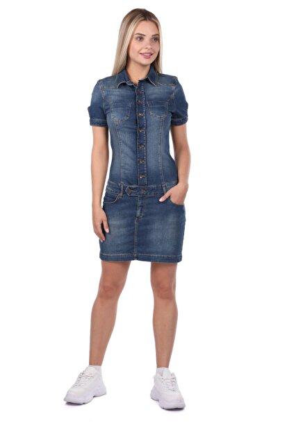 Bluewhite Blue White Kadın Jean Elbise