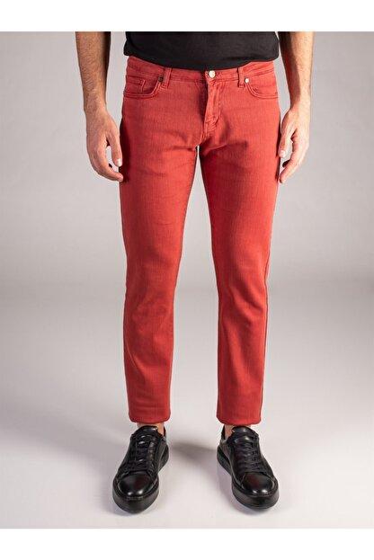 Dufy Nar Çiçeği Düz Likralı 5cep Erkek Pantolon - Regular Fit