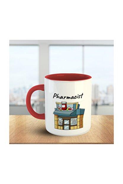 MOSELLE Pharmacist (Eczacı) No:1 Kırmızı Beyaz Meslek Kupa
