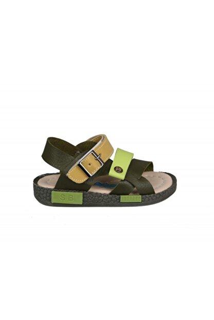 Şirin Bebe 201-21 (22-25 Arası) Ortopedik Yeşil Çocuk Sandalet